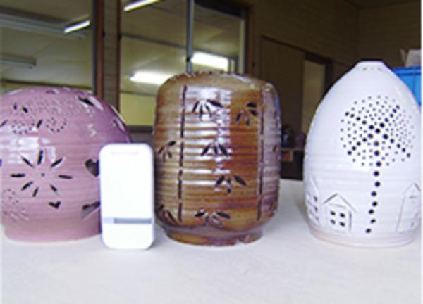 陶器のランプシェード作り